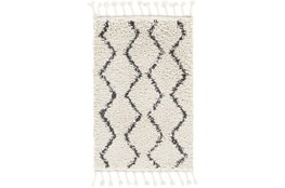 24X35 Rug-Global Shag Charcoal/Beige