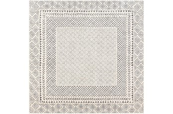63X63 Square Rug-Global LoWith High Grey And Beige
