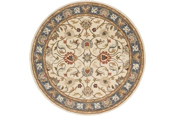 72 Inch Round Rug-Traditional Multicolor