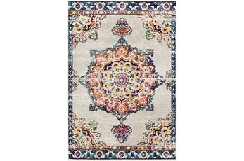 63X87 Rug-Traditional Bright Multicolored