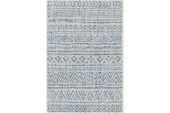 63X91 Rug-Global Denim Stripe