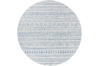 79 Inch Round Rug-Global Denim Stripe
