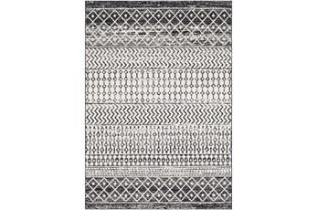 108X150 Rug-Global Black And Grey Stripe