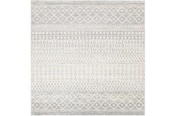 94X94 Square Rug-Global Grey And White Stripe