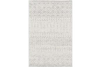 108X150 Rug-Global Grey And White Stripe