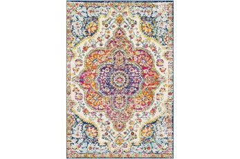 63X90 Rug-Traditional Bright Multicolored