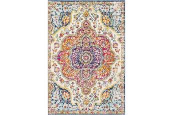 108X150 Rug-Traditional Bright Multicolored