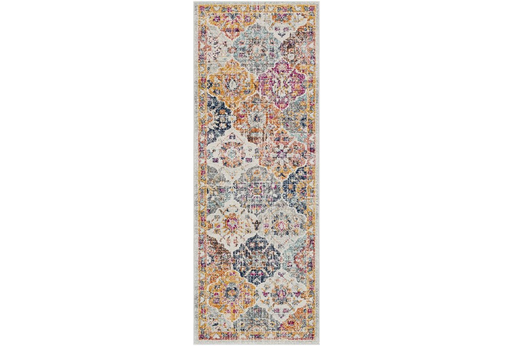 31X144 Rug-Traditional Bold Multicolor