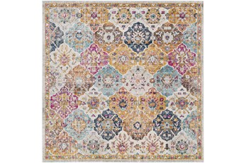 79X79 Square Rug-Traditional Bold Multicolor