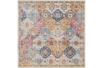 79X79 Square Rug-Traditional Bold Multicolor