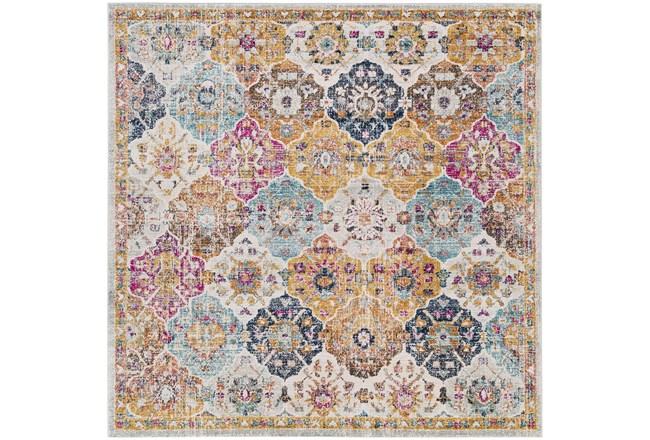 79X79 Square Rug-Traditional Bold Multicolor - 360