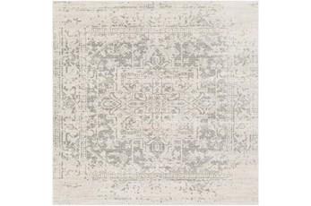 79X79 Square Rug-Traditional Soft Greys