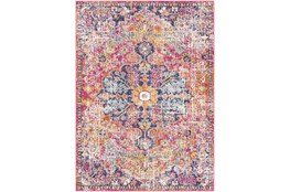 47X67 Rug-Traditional Bright Pink/Multicolored