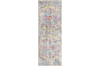 31X87 Rug-Traditional Blue/Multicolroed