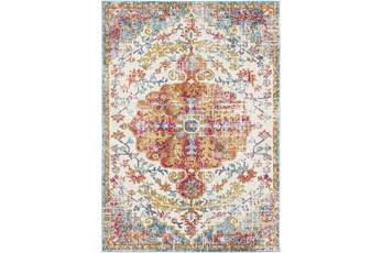 94X123 Rug-Traditional Multicolored