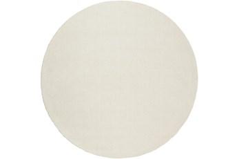 117 Inch Round Rug-Modern Cream