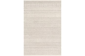 120X168 Rug-Global Cream Striped
