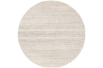 72 Inch Round Rug-Global Cream Striped