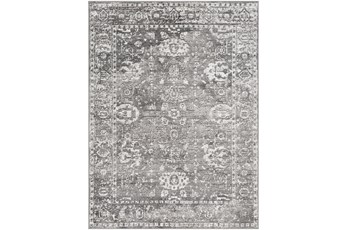 79X79 Square Rug-Traditional Grey