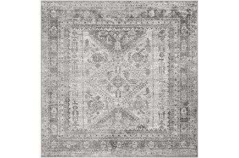 63X63 Square Rug-Traditional Grey