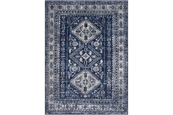 63X87 Rug-Traditional Navy