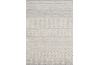 106X147 Rug-Global Muted Stripe Grey