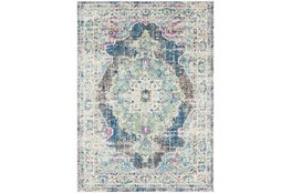 79X108 Rug-Traditional Distressed Multicolored