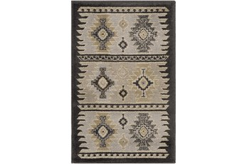 63X93 Rug-Rustic Grey And Khaki