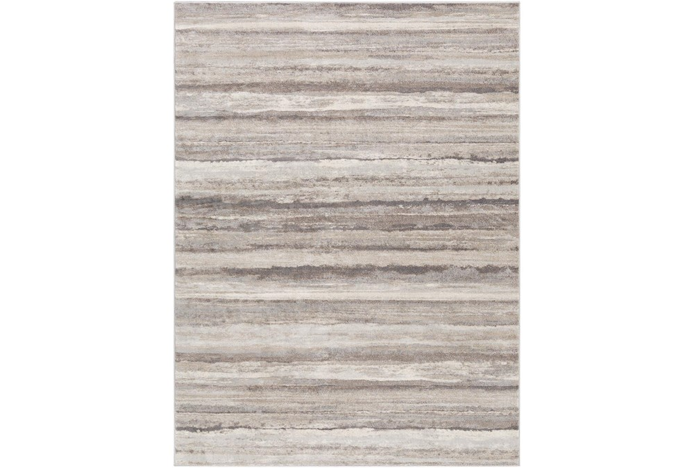 63X85 Rug-Modern Stripe Grey And Tans