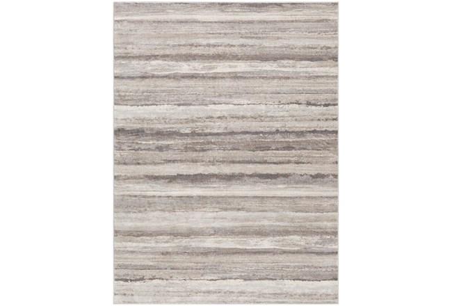 79X108 Rug-Modern Stripe Grey And Tans - 360