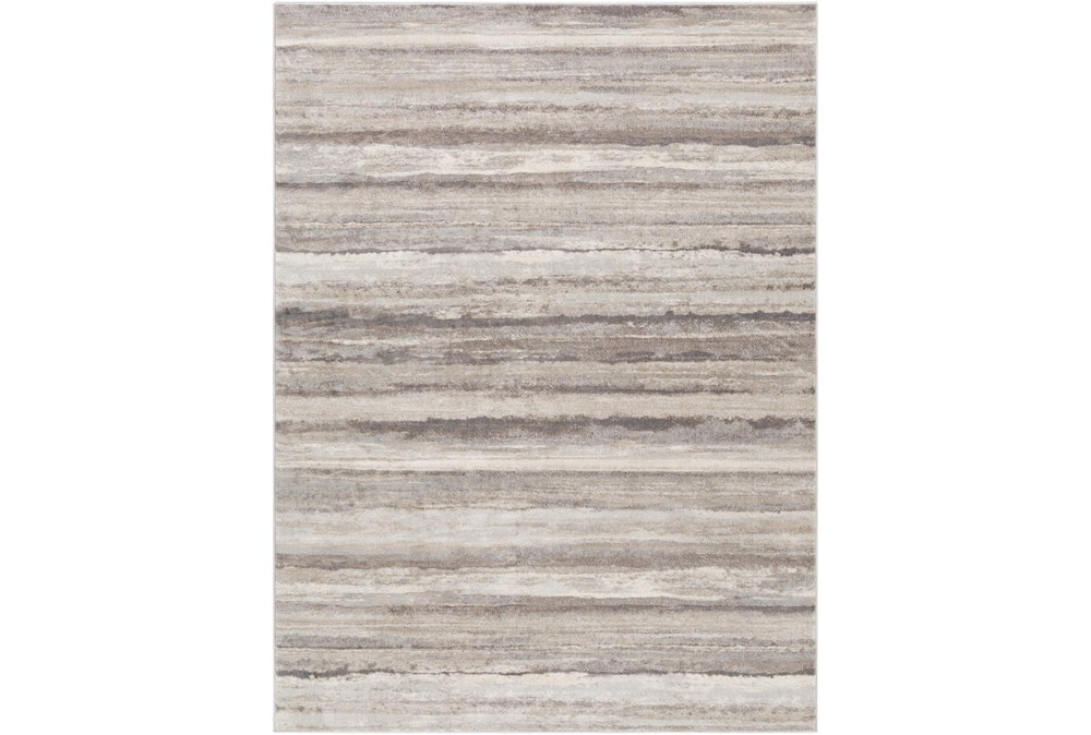 94X120 Rug-Modern Stripe Grey And Tans