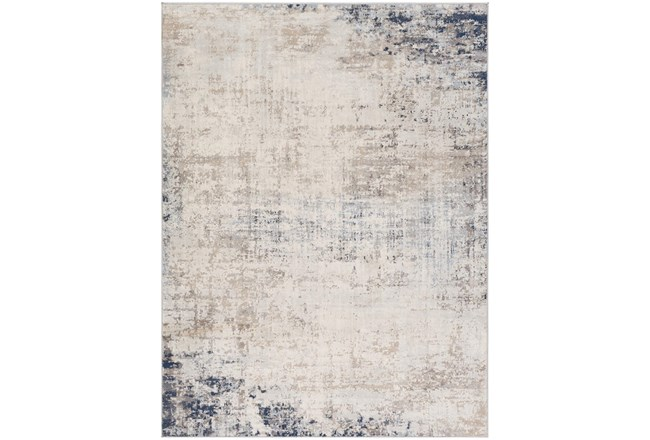94X120 Rug-Modern Distressed Grey And Blue - 360