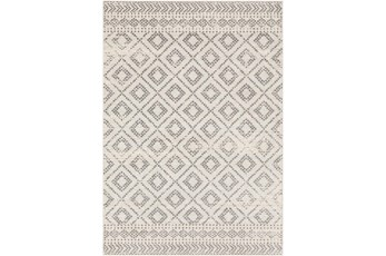 108X144 Rug-Global Diamond Grey And White