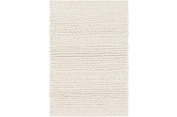 60X96 Rug-Modern Texture Ivory And Charcoal