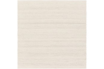 96X96 Square Rug-Modern Texture Ivory And Charcoal