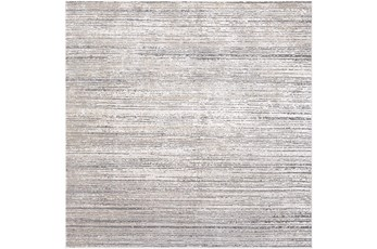 94X94 Square Rug-Modern Distressed High/Low Khaki And Grey