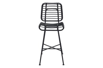 "Coral Outdoor Black 28"" Bar Chair"