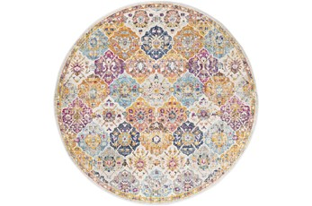 79X108 Oval Rug-Traditional Bold Multicolor