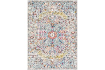 94X123 Rug-Traditional Blue/Multicolroed