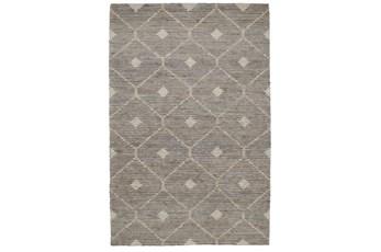 96X120 Rug-Traditional Diamond Stone Gray