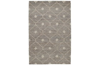 108X144 Rug-Traditional Diamond Stone Gray