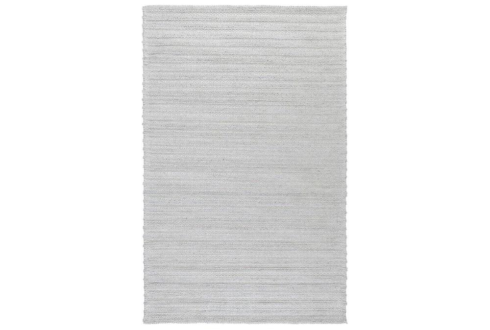 24X36 Rug-Modern Cloud Gray Plush Wool Blend