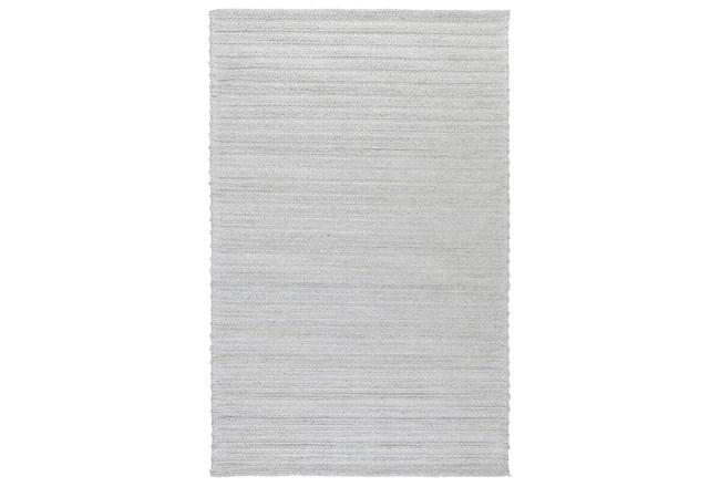 24X36 Rug-Modern Cloud Gray Plush Wool Blend - 360