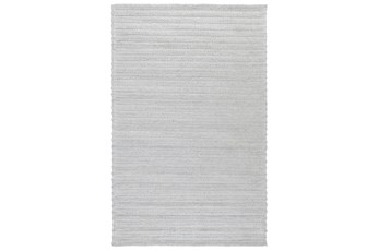60X96 Rug-Modern Cloud Gray Plush Wool Blend