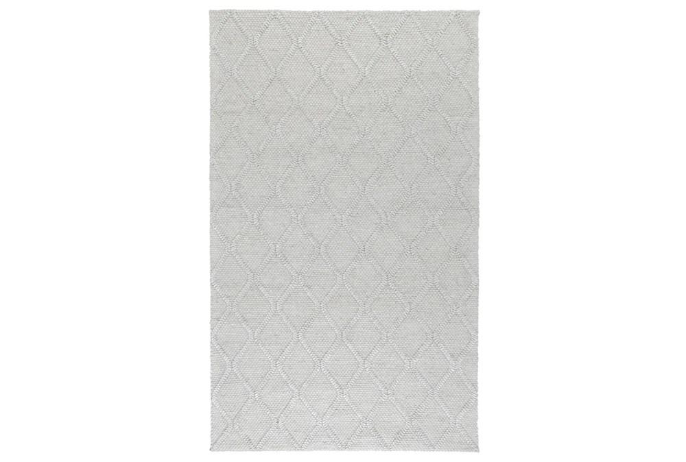 60X96 Rug-Modern Cloud Gray Wool Blend