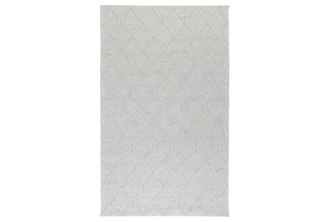60X96 Rug-Modern Cloud Gray Wool Blend    - 360