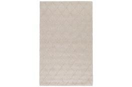 96X120 Rug-Modern Latte Wool Blend