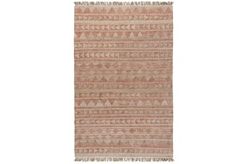 60X96 Rug-Modern Distressed Terracotta Natural