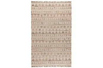 31X96 Runner Rug-Modern Distressed Ivory Natural