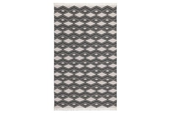 60X96 Rug-Contemporary Indoor Outdoor Charcoal